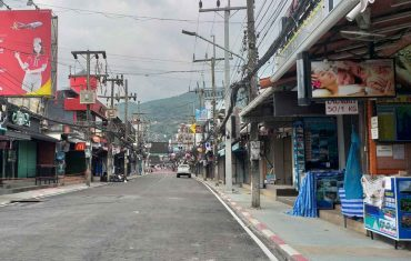 Phuket's nightlife area before its reopening on Wednesday. (Photo: Achadtaya Chuenniran)
