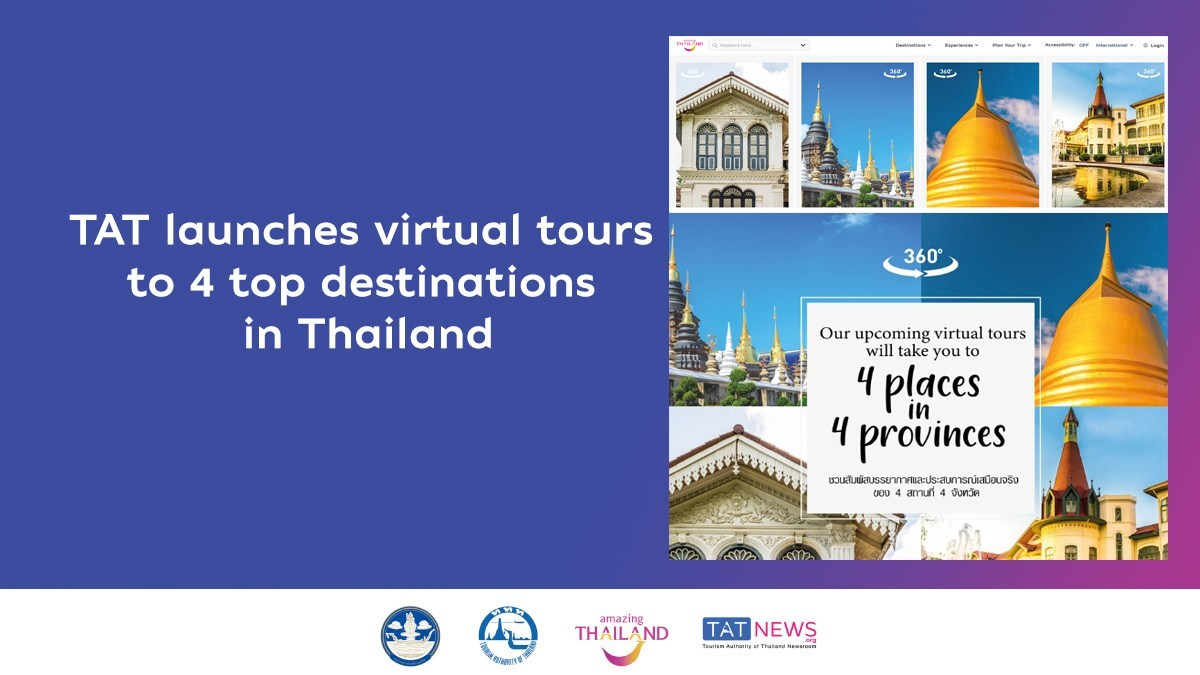 The top 4 destinations in Thailand available for virtual tours