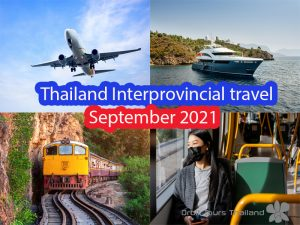 domestic travel in Thailand in September 2021